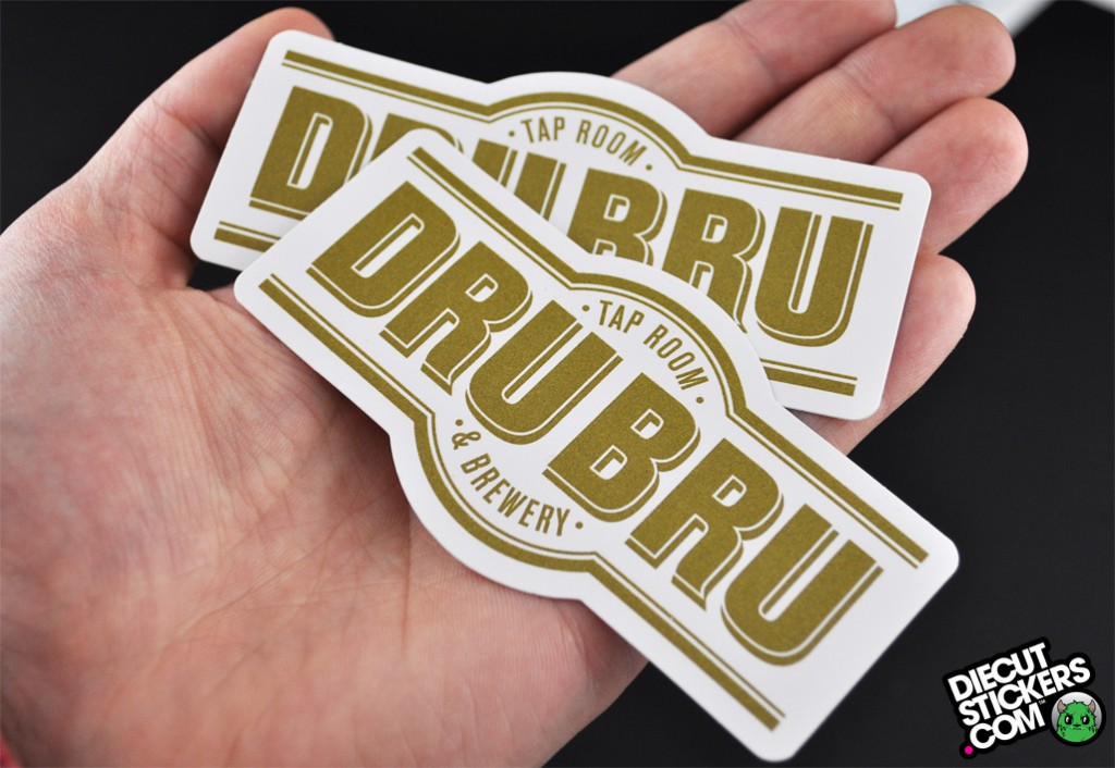 Well known DRU BRU | Printing Gold | DieCutStickers.com YH16